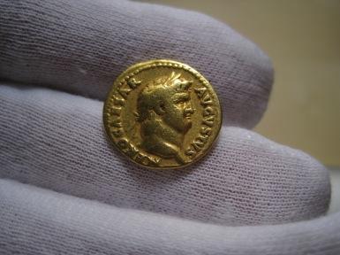 Aureo oro Emperador Romano Nerón