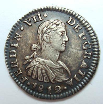 Medio Real 1812. Fernando VII