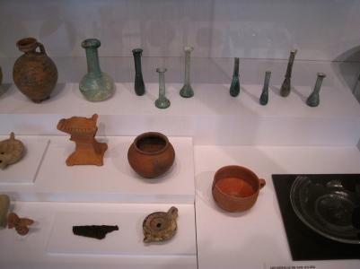 Ceramica y cristal romano, museo de MÁLAGA