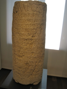 Miliario romano, Museo de la Aduana,